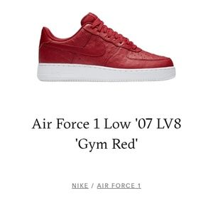 Air Force 1 Low '07 LV 8 'Gym Red'